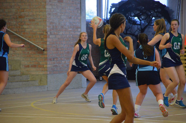 Netball game at Malvern College